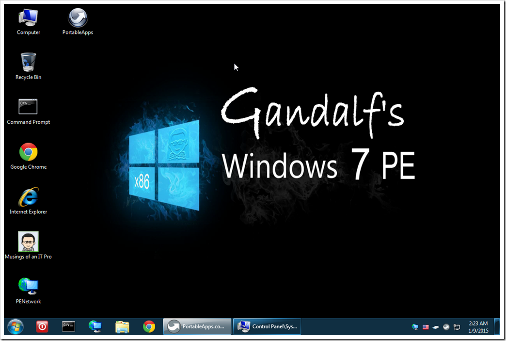 Gandalf S Windows 7 Pe X86 Musings Of An It Pro